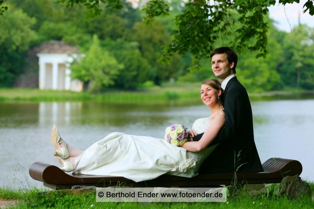 Hochzeitsfotos im Wörlitzer Park: Fotostudio Ender