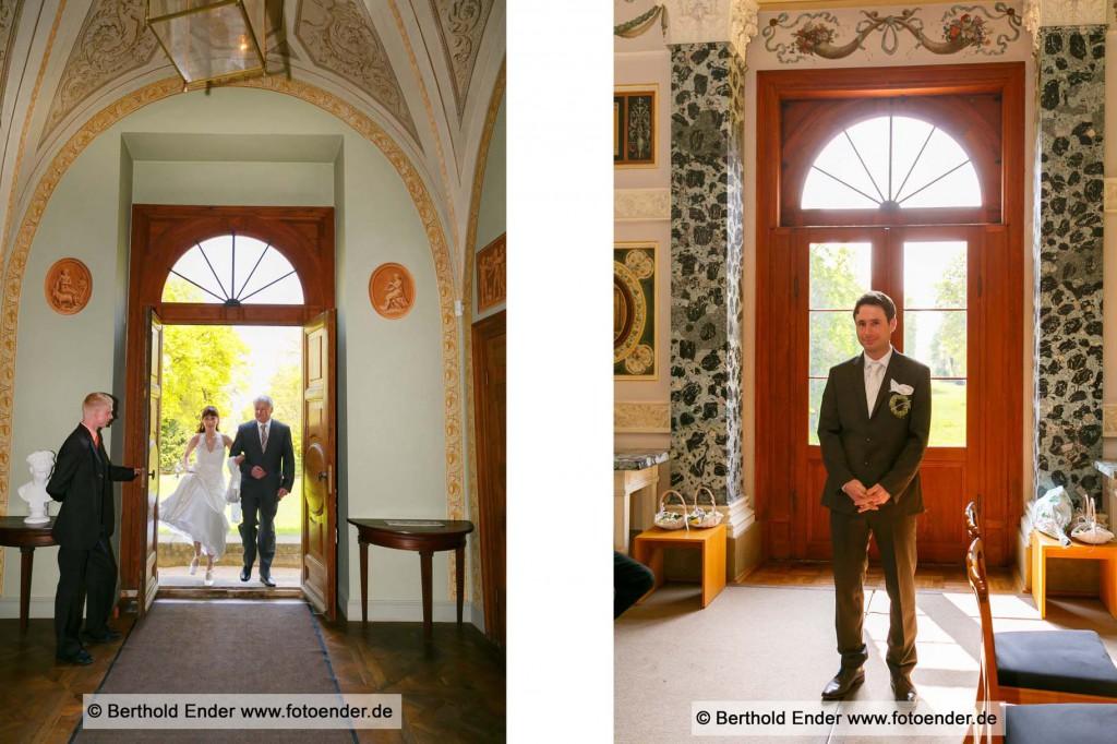 Standesamtliche Trauung im Luisium, Fotostudio Ender, Oranienbaum-Wörlitz