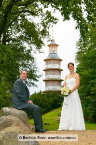 Hochzeitsfotos im Barockpark Oranienbaum