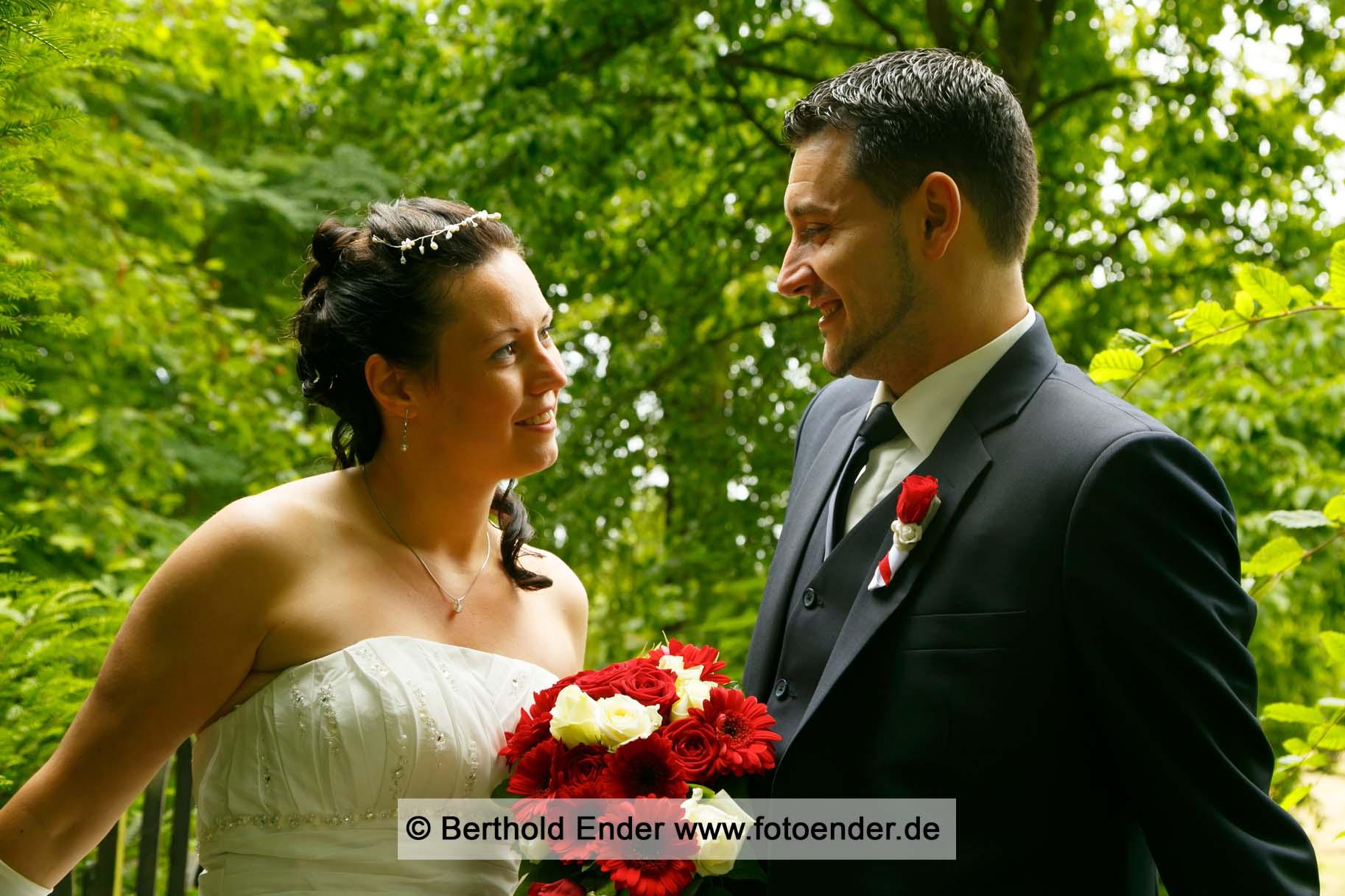 Brautpaarfotos im Wörlitzer Park, Fotostudio Ender