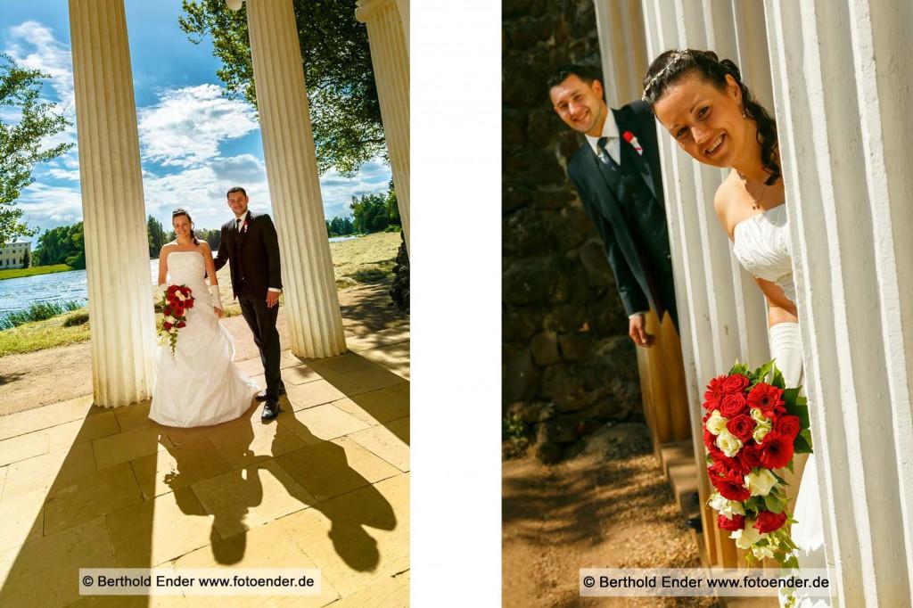 Hochzeitsfotos im Wörlitzer Park, Fotostudio Ender