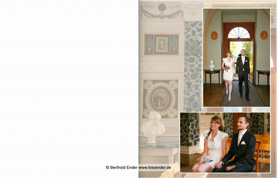 Hochzeitsfotos im Luisium - Echtfotobuch - Fotostudio Ender, Oranienbaum-Wörlitz