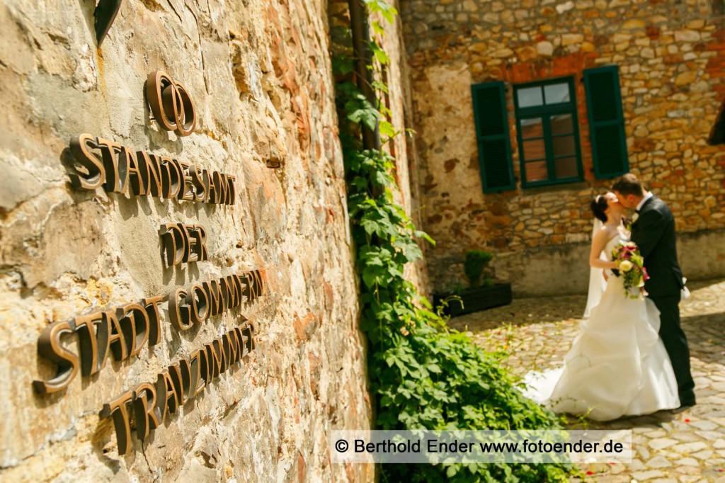 Hochzeitsbilder auf der Wasserburg in Gommern