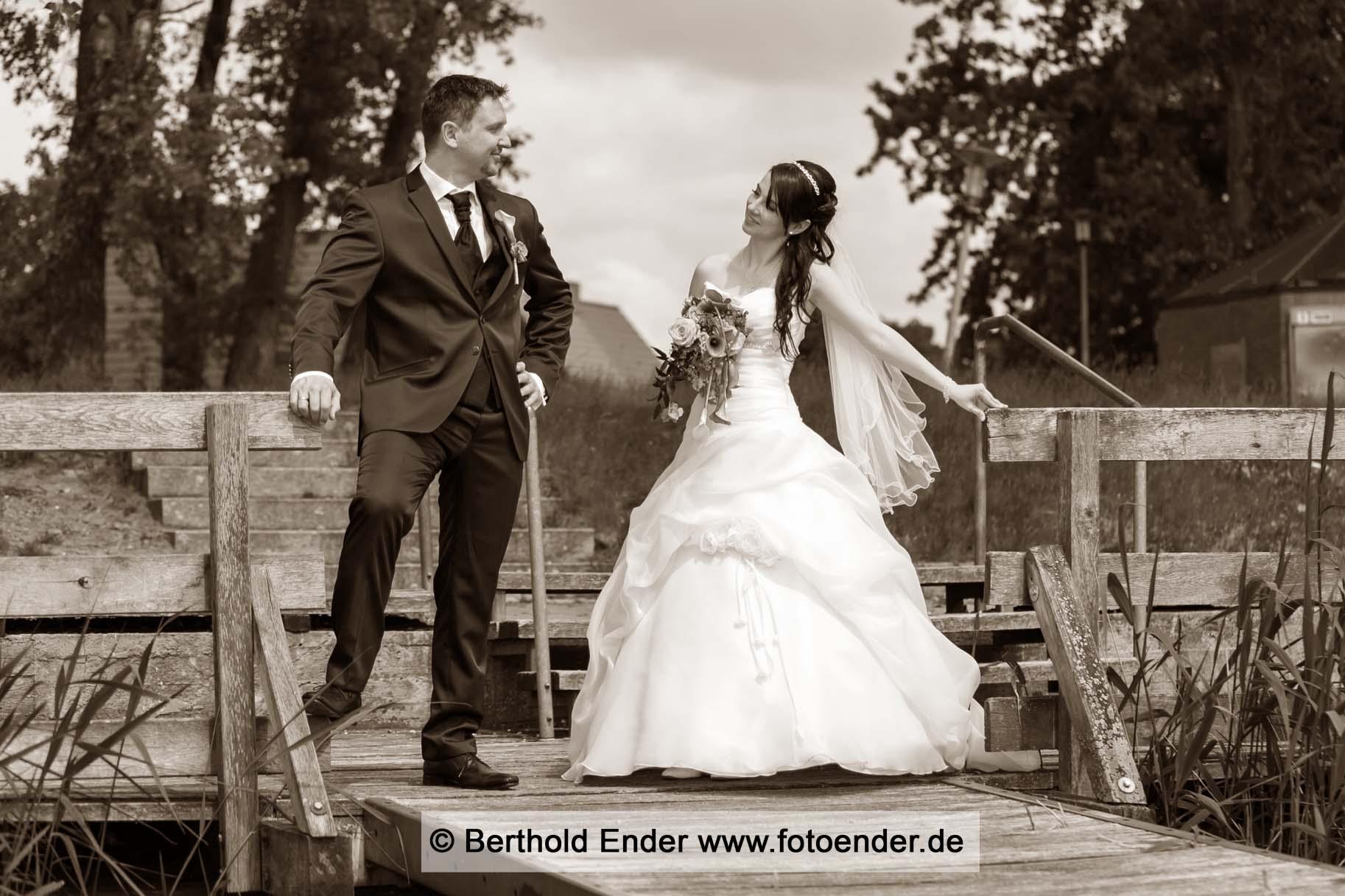 Hochzeitsfotos am Kulk in Gommern