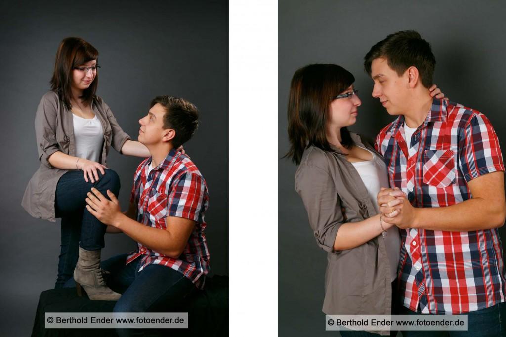 Paarfotoshooting im Studio, Fotostudio Ender