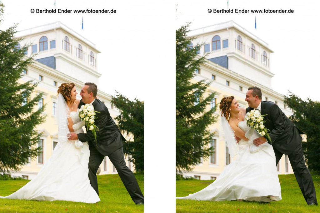 Brautpaar Shooting im Wörlitzer Park: Hochzeitsfotograf Berthold Ender