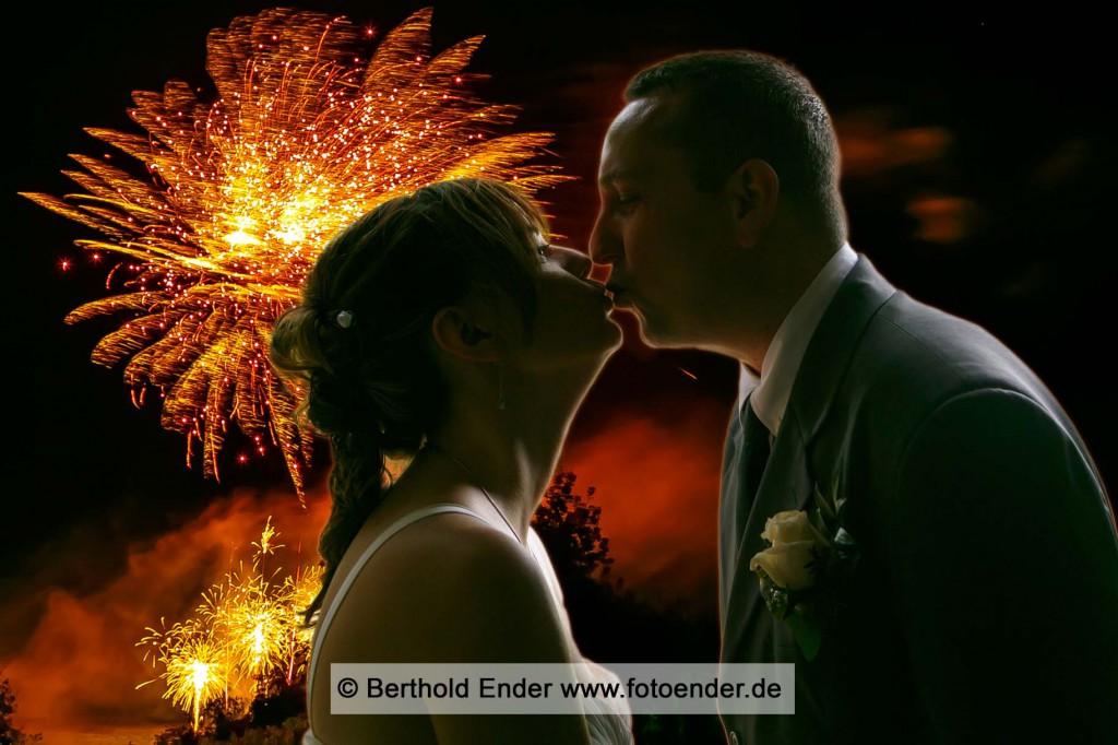 Hochzeits-Feuerwerk: Hochzeitsfotograf Berthold Ender