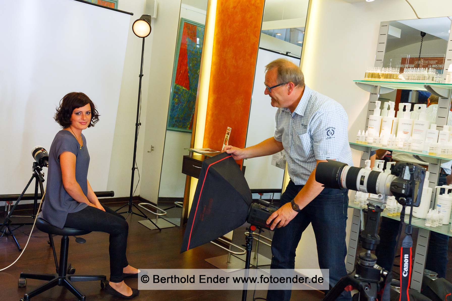 Teamfotos mit mobilem Fotostudio - Berthold Ender