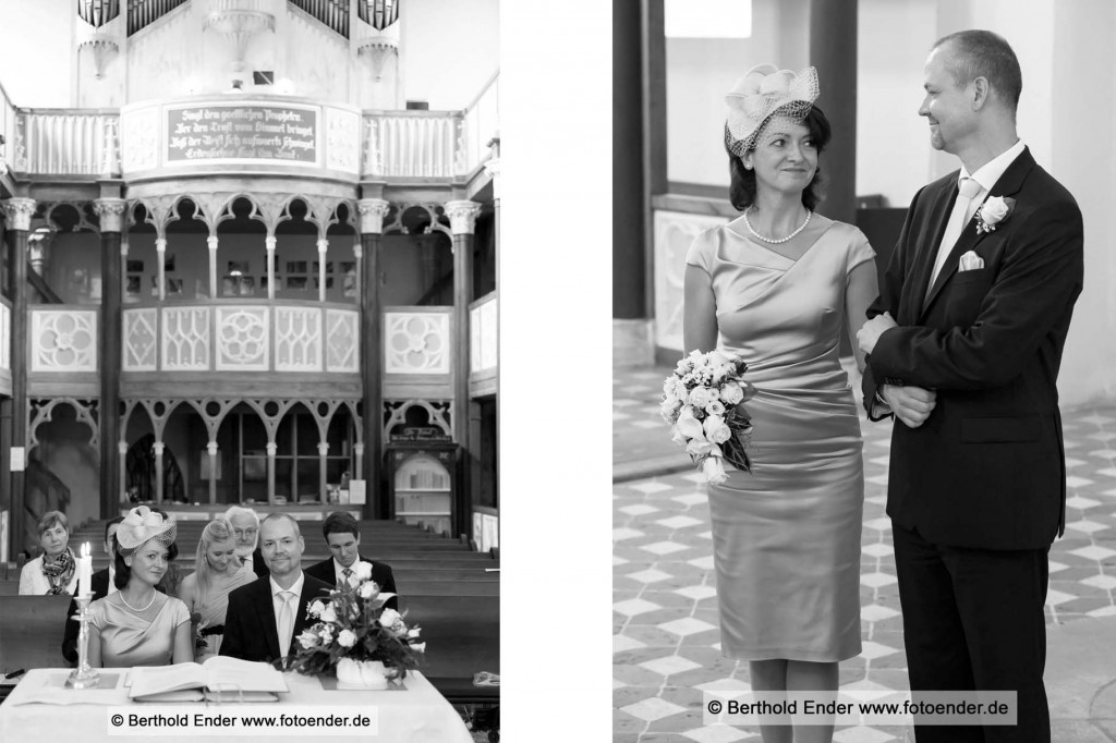 Silberhochzeit in der Kirche zu Wörlitz mit Brautpaar Shooting