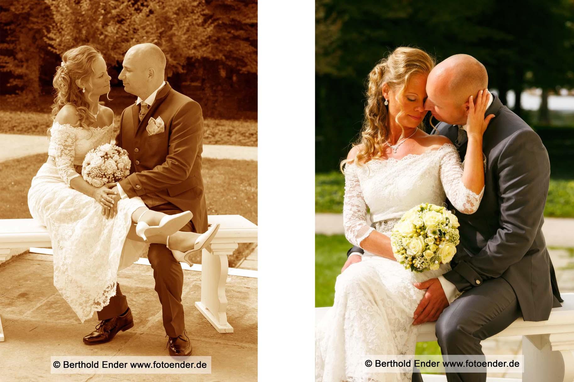 Hochzeitsfotografie im Wörlitzer Park - Fotostudio Berthold Ender