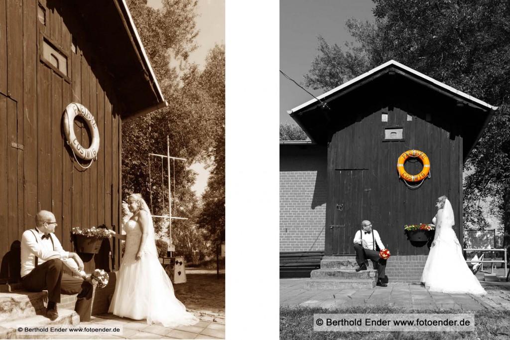 Hochzeitsfotos an der Elbe bei Coswig