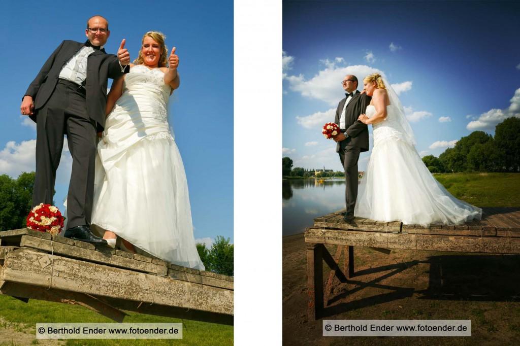 Brautpaar Shooting an der Elbe bei Coswig