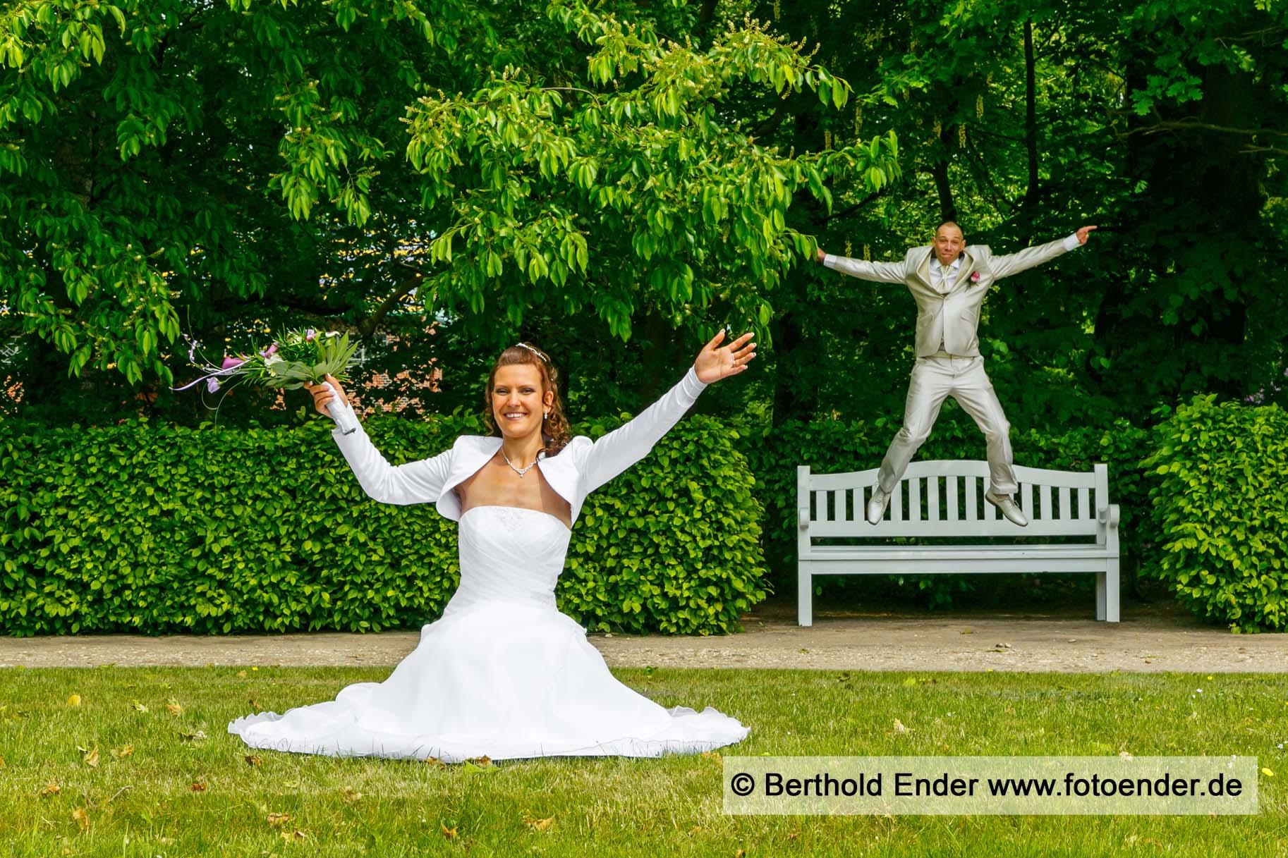 Brautpaarfotos im Barockpark Oranienbaum
