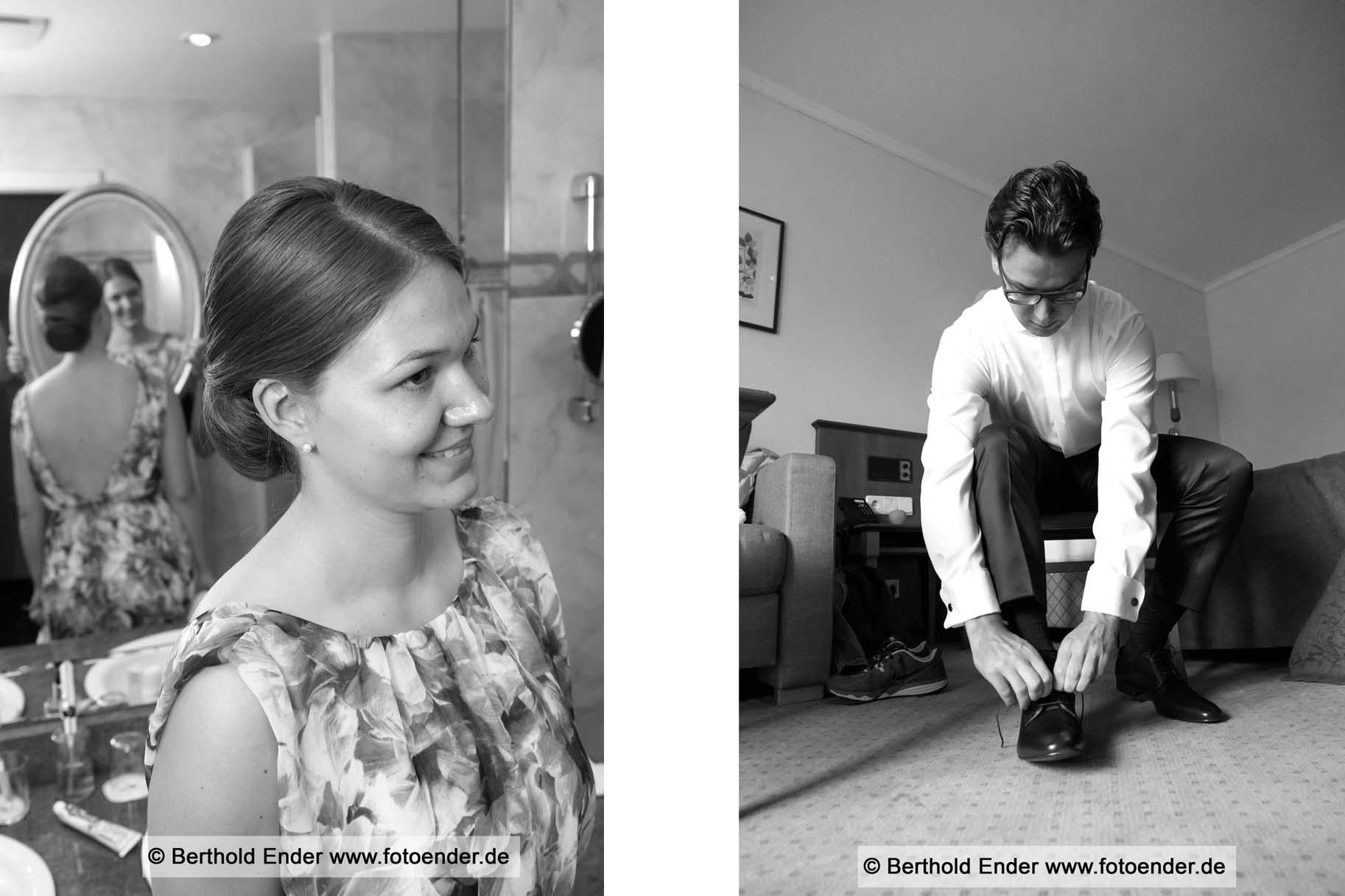 Vorbereitungen zur Hochzeit - Fotostudio Ender