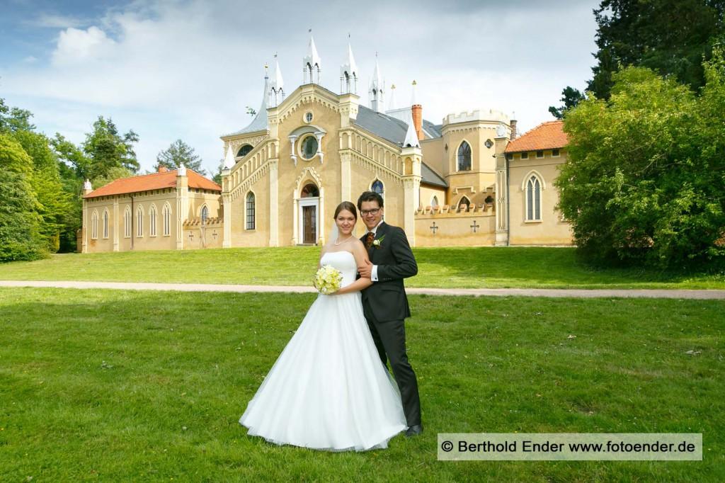 Brautpaar Shooting am Gotischen Haus in Wörlitz
