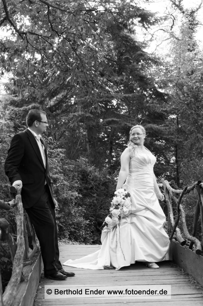 Brautpaar  im Wörlitzer Park