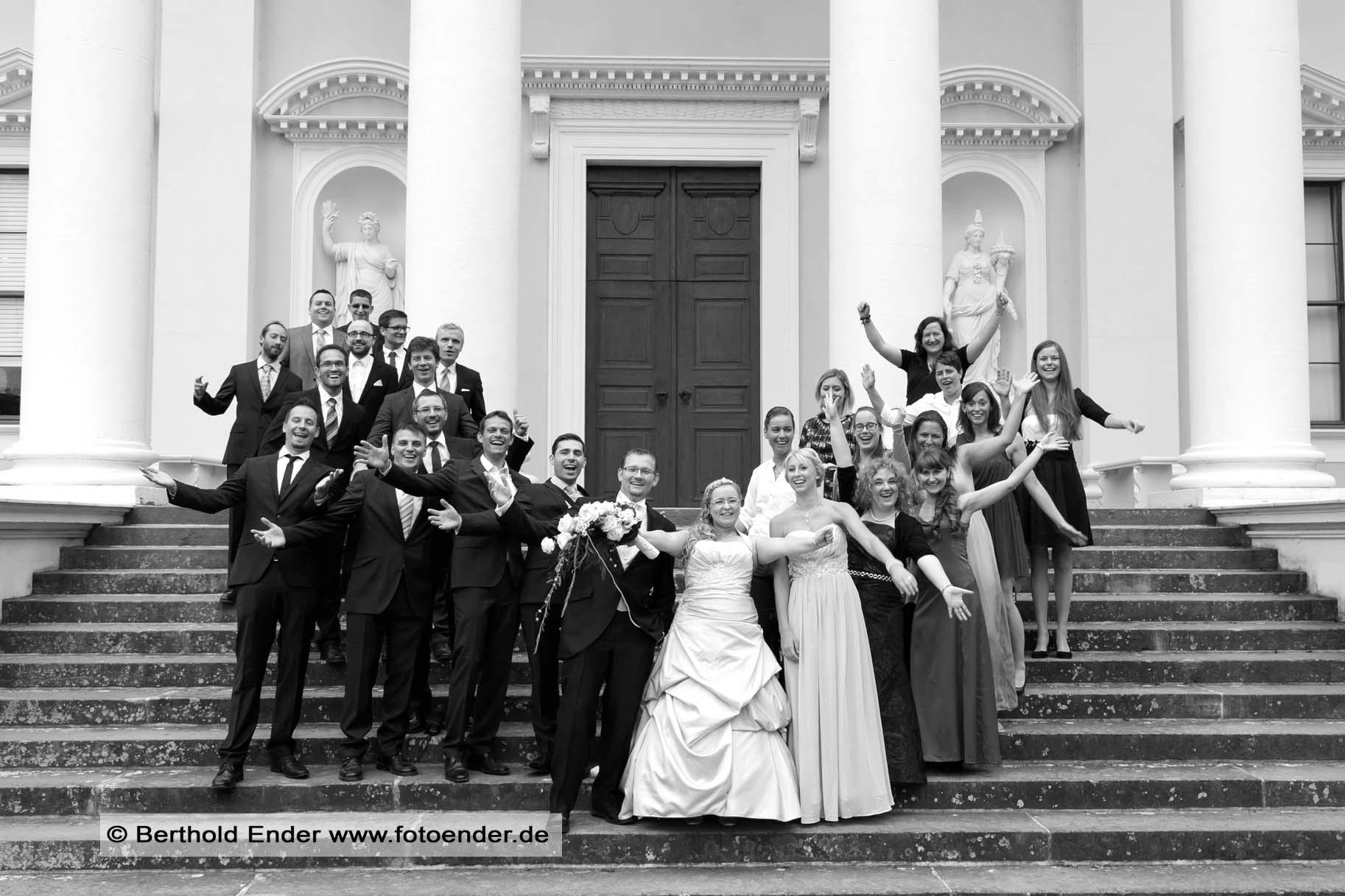 Gruppenbilder am Schloß Wörlitz