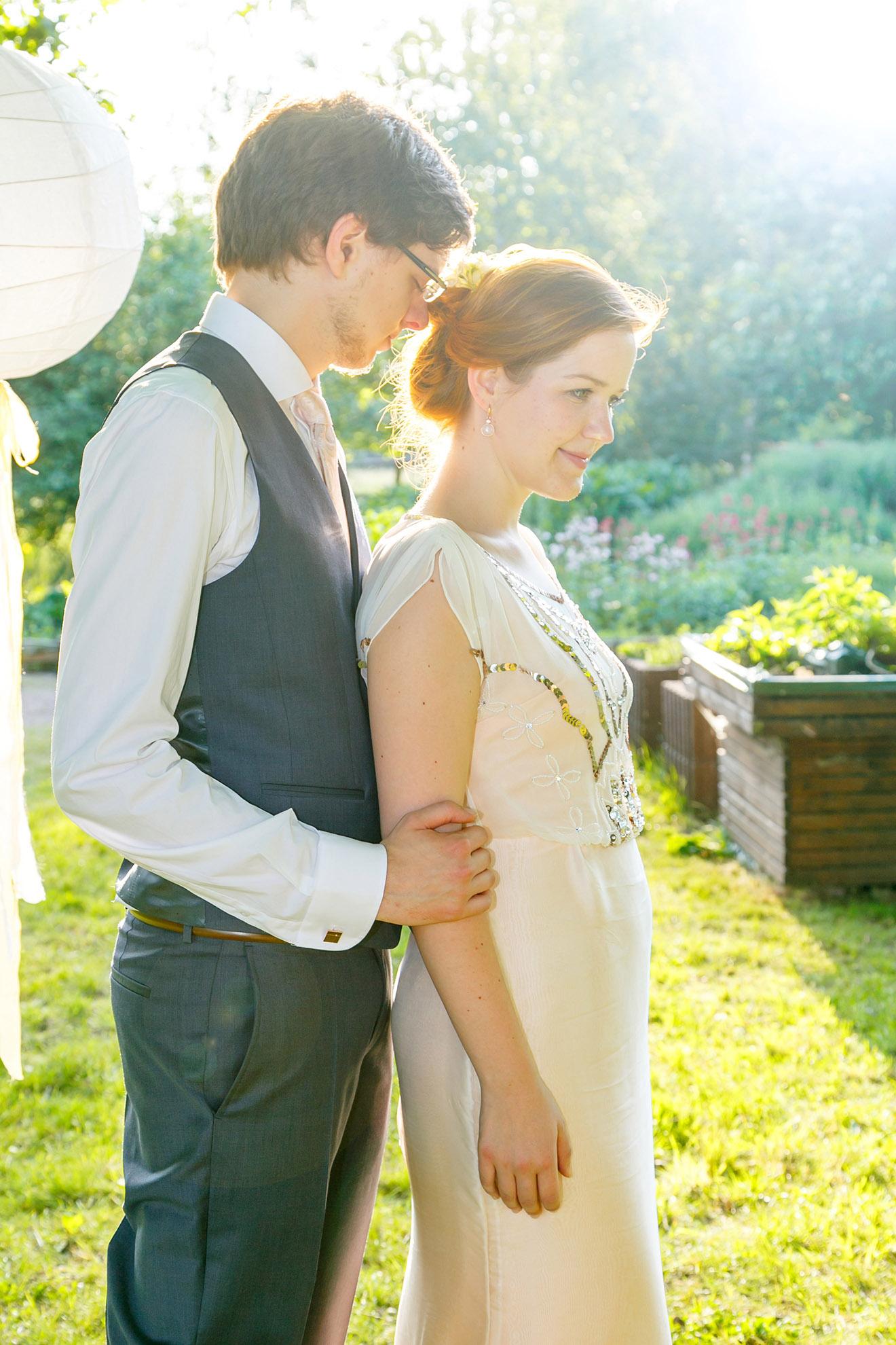 Brautpaarshooting in der Gutsscheune in Schwemsal
