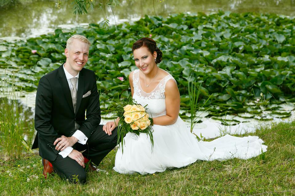 Brautpaar Fotoshooting im Country Park-Hotel Brehna - Fotostudio Ender