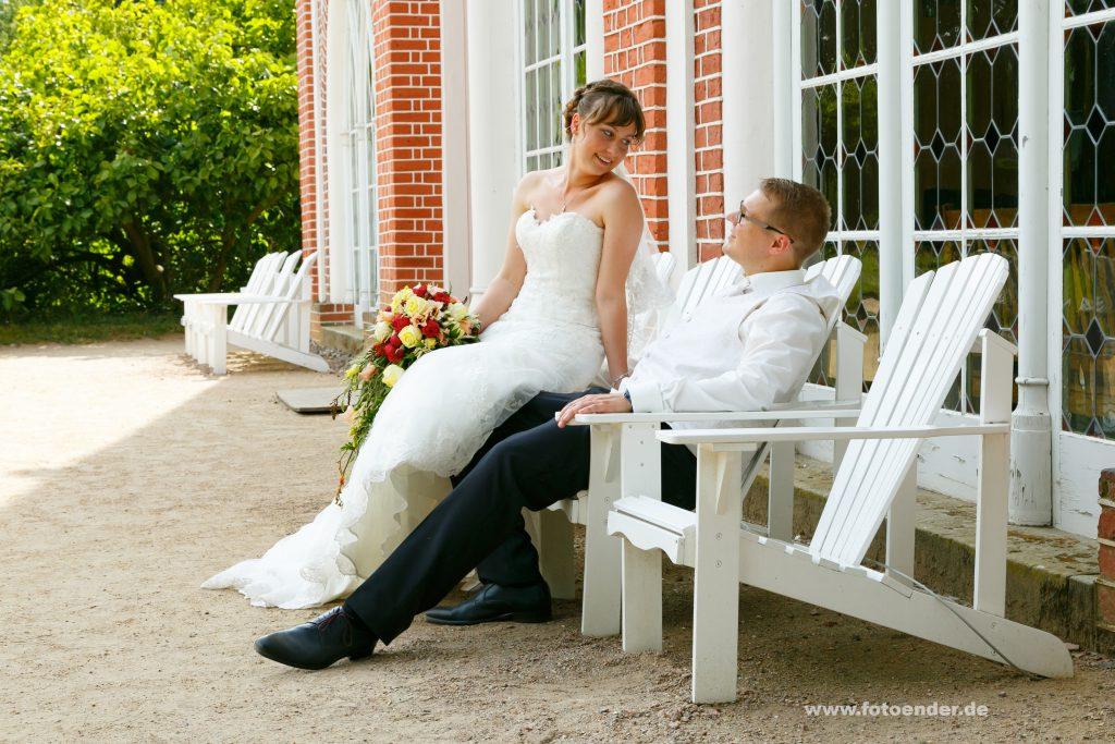 Hochzeitsfotos am Gotischen Haus im Wörlitzer Park