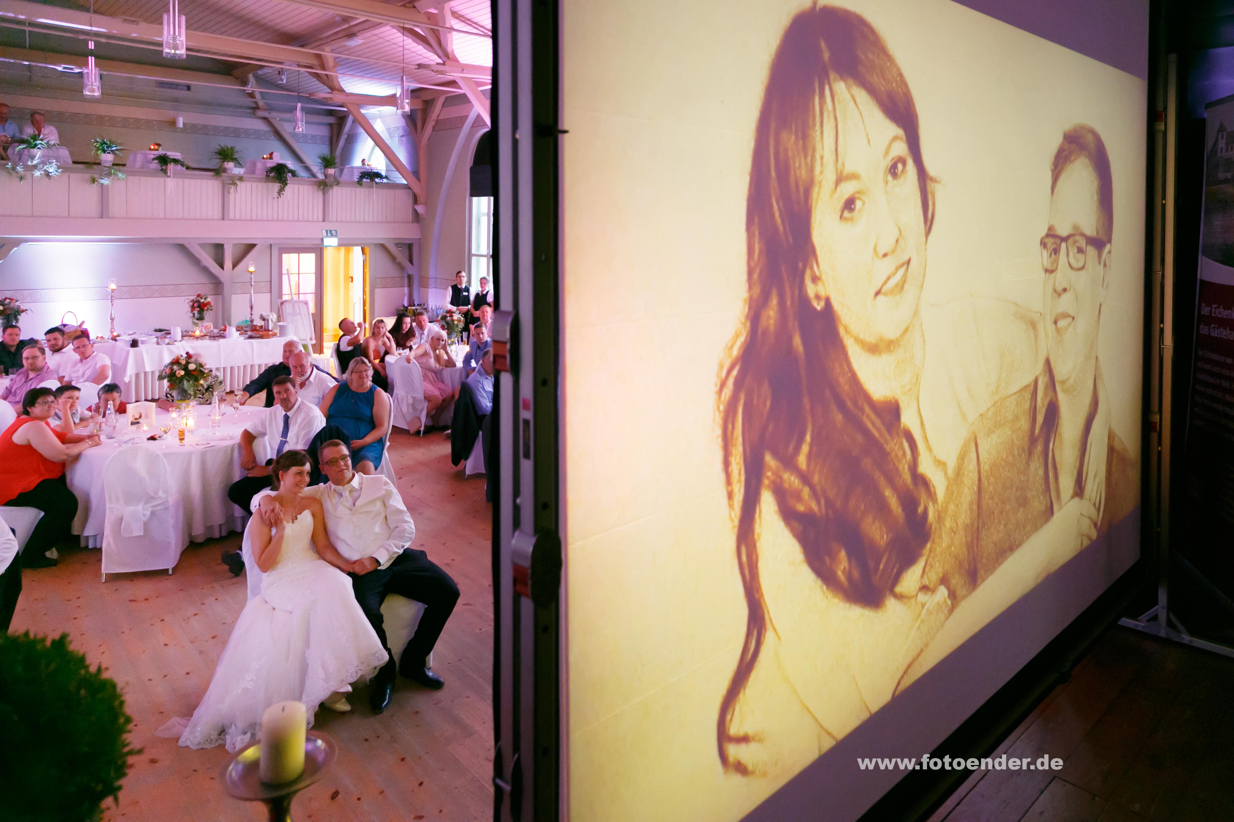 Hochzeitsfeier im Eichenkranz in Wörlitz