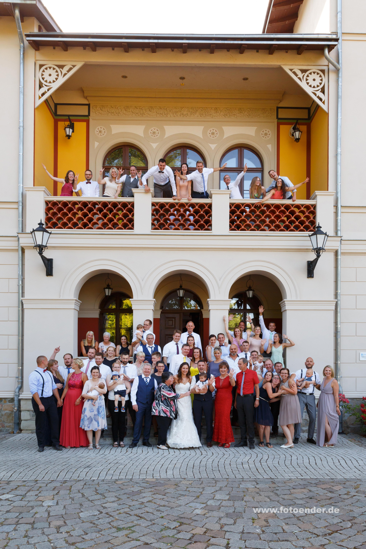 Gruppenfotos im Herrenhaus Möckern